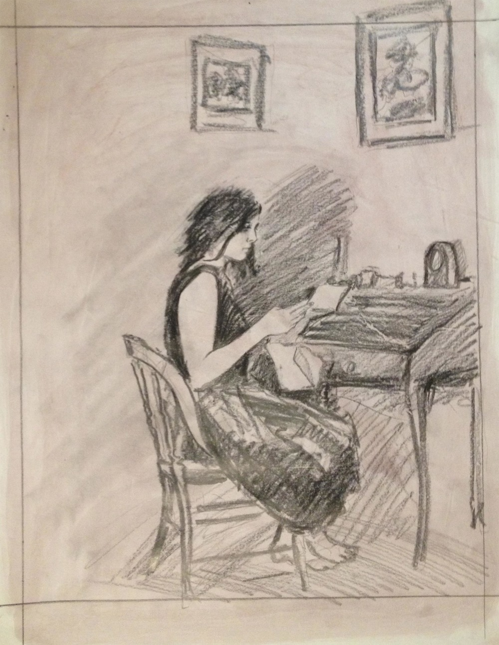 Study For The Letter